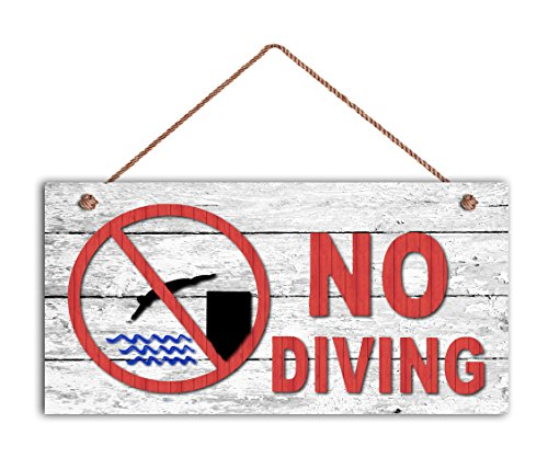- Augus Church NO DIVING Sign, Swimming Pool Sign, Pool Gate Sign, Weatherproof, 5