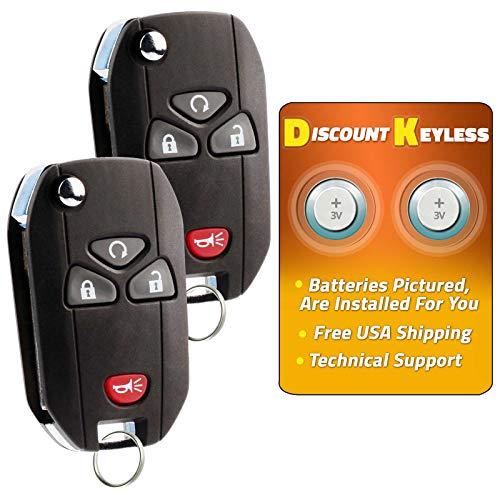 - For 07-15 Cadillac Buick Chevy GMC Pontiac Saturn Suzuki Keyless Entry Remote Flip Key Fob 4btn 15913421 OUC60270, OUC60221-2 PACK