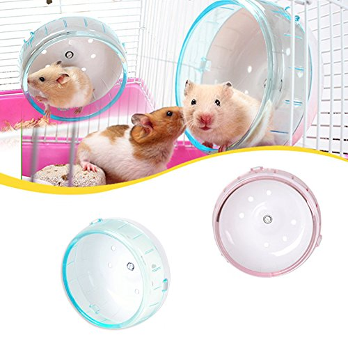 Whitelotous-Plastic-Hamster-Mouse-Exercise-Running-Spinner-Wheel-Small-Pet-Toy-color-in-random