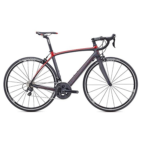 Kestrel Legend Shimano 105 Road Bike, Medium/55 cm, Satin Carbon/Gloss Brick Red