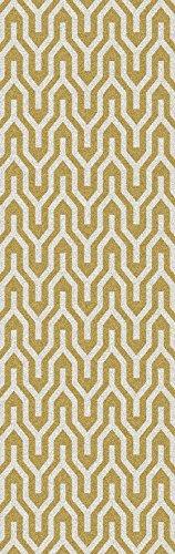 Surya Jill Rosenwald Fallon FAL-1102 Hand Woven 100-Percent Wool Geometric Runner Rug, 2-Feet 6 by (Fallon Wool Rug)
