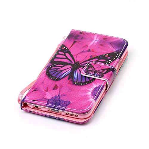 Para Smartphone Apple Iphone 6(4.7pulgadas) funda de piel para Apple iPhone 6(4.7pulgadas) Flip Cover Funda Libro Con Tarjetero Función Atril magnético + Polvo Conector azul 1 7