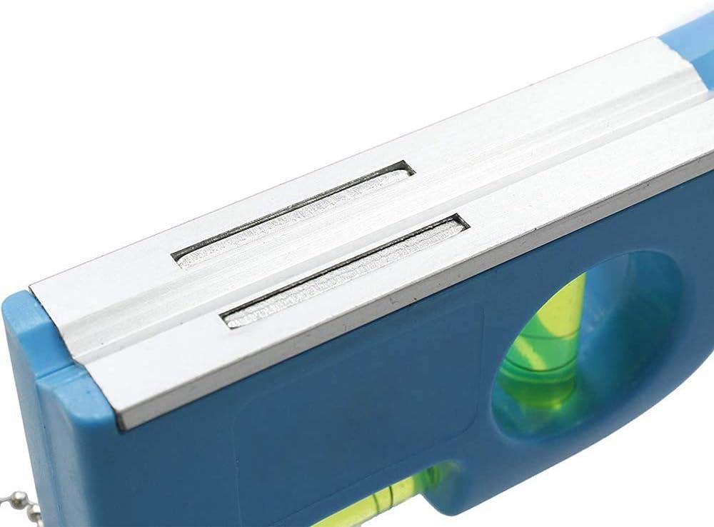 Verdelife Ruban /à mesurer r/ègle standard et m/étrique bleu Niveau /à bulle Niveau /à bulle magn/étique horizontal//vertical