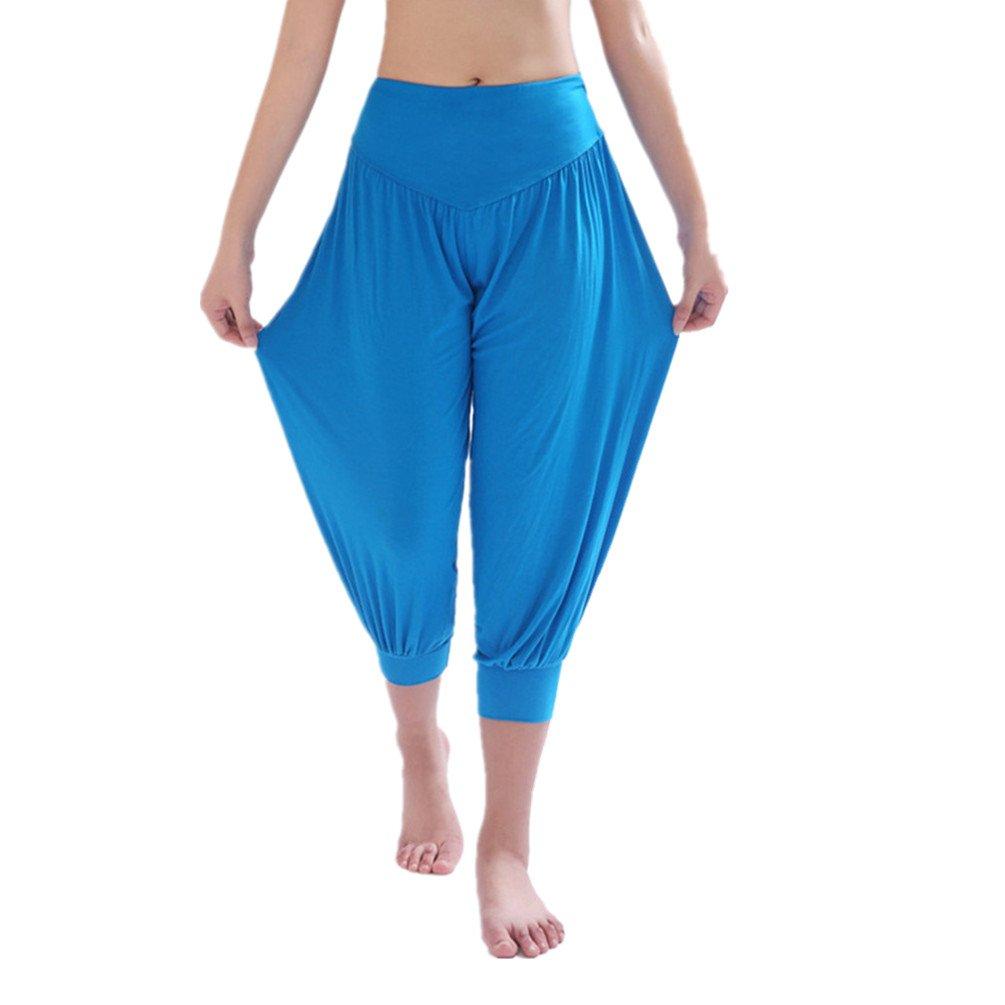 YoYoiei PANTS レディース B0711QH75R L|ブルー ブルー L