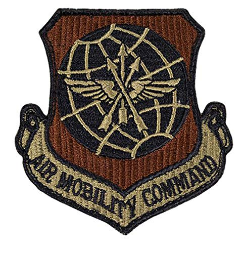 USAF Air Mobility Command OCP Spice Brown Patch with Hook Fastener