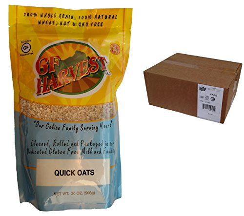 GF Harvest Quick Oats, 20 Ounce (Pack of 6)