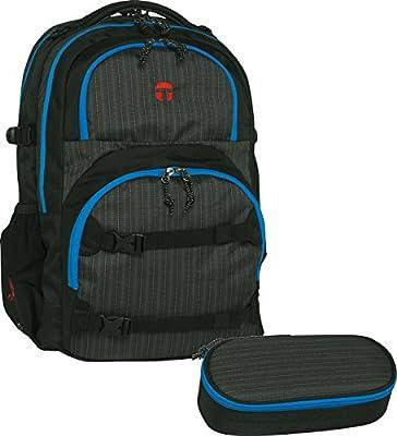 Take It Easy Oslo – Set de mochila escolar, 2 piezas de Flex 491001 – Estuche, color negro