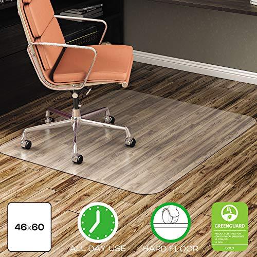 Deflecto CM2E442FCOM EconoMat All Day Use Chair Mat for Hard Floors, 46 x 60, Clear, Drop Ship Item