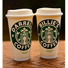 Personalized Name Starbucks Cup. 16 oz Reuseable Travel Cup.Glossy or Glittered Vinyl!