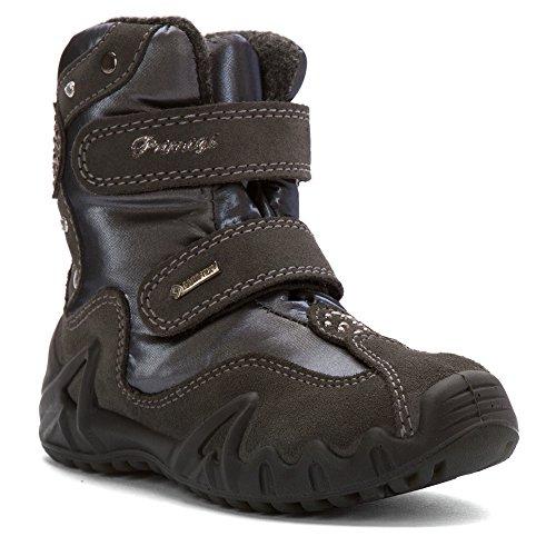 (Primigi Girls' Patsy Gore-TEX Boot,Grey Suede/Textile,EU 34 M)