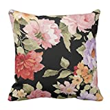 YaYa cafe Printed Best Floral Flower throw cushions pillow covers 16x16 inches for Home decor Sofa Chair bedroom living Room - Set of 1