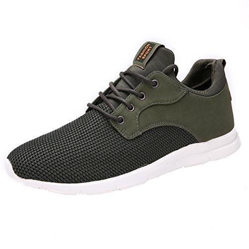 Maylen Hughes Hommes Femmes Chaussures de course à pied Casual Chaussures à lacets Vert foncé xub6H