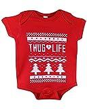 ShirtBANC Red Thug Life Onesie 6M (Red Thug Life, 24 Months)