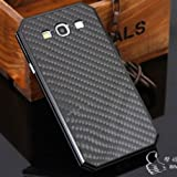 Galaxy S3 Carbon Fiber Case,surpluswind Aluminum S3 Metal Case for Galaxy S3 I9300 Carbon Fiber Back Case (black)