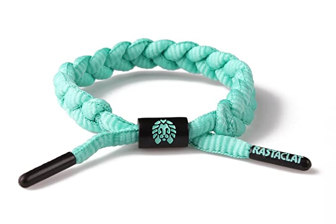 RASTACLAT Braided Shoelace Bracelet Mint Chip - teal dtrGV75H