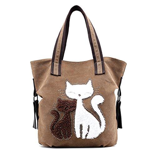 Sac Womens sur toile Womens Cat Cat aYwng