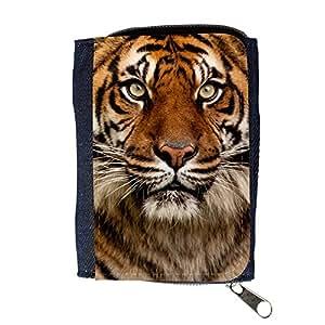 le portefeuille de grands luxe femmes avec beaucoup de compartiments // V00002177 Retrato del tigre // Purse Wallet