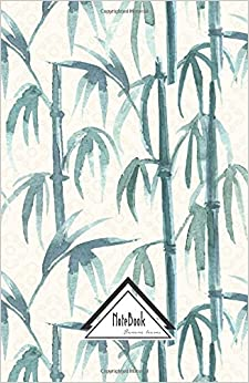 Book Notebook Journal Dot-Grid, Graph, Lined, No lined: Oriental Green Bamboo Garden Zen Pattern: Small Pocket Notebook Journal Diary, 120 pages, 5.5