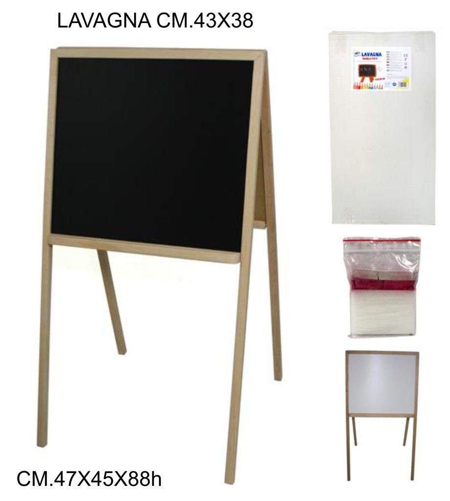 LAVAGNA DOUBLE FACE CON CAVALLETTO 43x38 CM (35x50) MENU BAR PUB GIOCO + OMAGGIO Casa