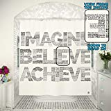 inspiring large bathroom sinks Motivational 2in1 Shower Curtain by TubSail - Read In – 145 Quotes Inspirational Tool Positive Vibes Gym Curtains Bathroom Motivation Black and White Unique Design Fun Word Quote Fitness Set
