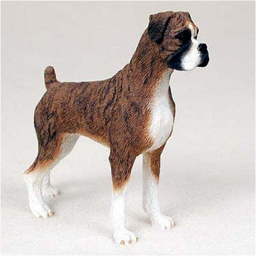 - Boxer, Brindle, Uncropped Original Dog Figurine (4in-5in)