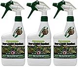 (3 Pack) Liquid Fence Deer and Rabbit Repellent