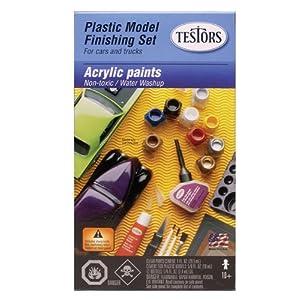 Testors TES9163 Acrylic Paint Finishing Kit, Multicolor