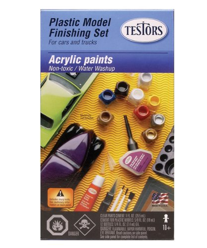 (Testors 9163BT 9163BT-3 Acrylic Paint Finishing KIT, Multicolor)