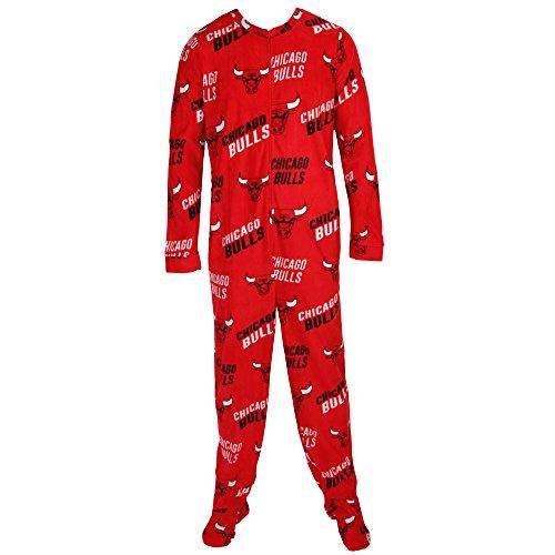 Chicago Bulls NBA Wildcard Unionsuit Pajamas (Large) - Bulls Pajamas Women