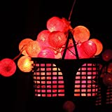 Hand-made Cotton Ball Christmas Decotative Light Holiday Lights Flashing Light String Lights-A