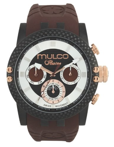 MULCO Men's MW3-11169-035 Lincoln Illusion Chronograph Analog Swiss Movement Watch