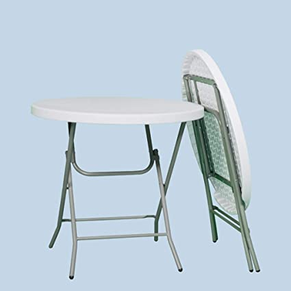 SHWSM Ménage Pliant Petite Table Ronde/Jardin, Table Pliante ...