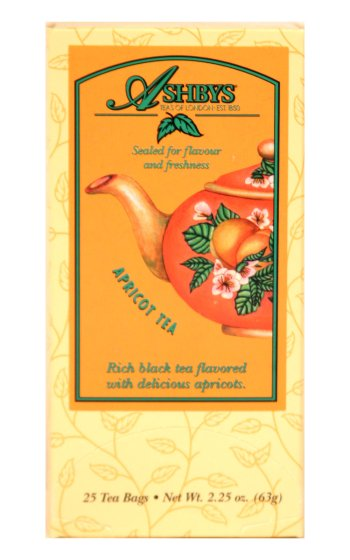 Ashbys Apricot Decaf Tea, 25 Bags