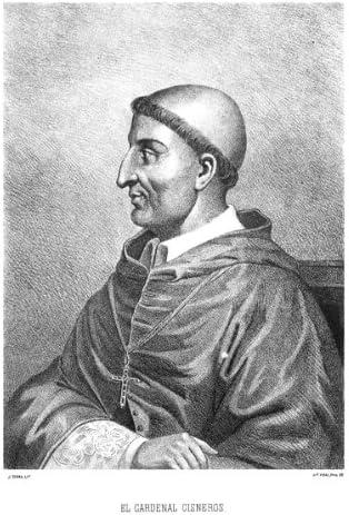 Grabado antiguo (1875) - Litografía - Retratos.- El Cardenal Fray Francisco Jiménez (Ximénez) De Cisneros (14x19), Serra, J.: Amazon.es: Hogar
