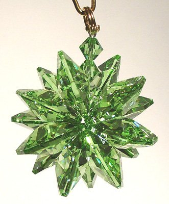 Small Austrian Crystal - Peridot Small Suncluster with Austrian Crystal
