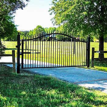 Victorian Gate - Mighty Mule Victorian 12' Single Steel Driveway Gate