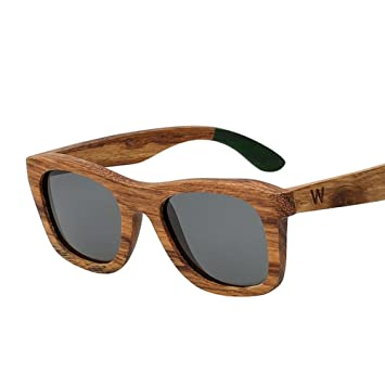 Z&YQGafas de sol de madera Polarizadas hombres y mujeres marea retro gafas de marco cuadrado ,