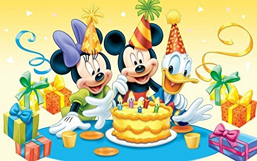 Mickey Minnie Mouse Donald Disney Birthday Party Edible I...
