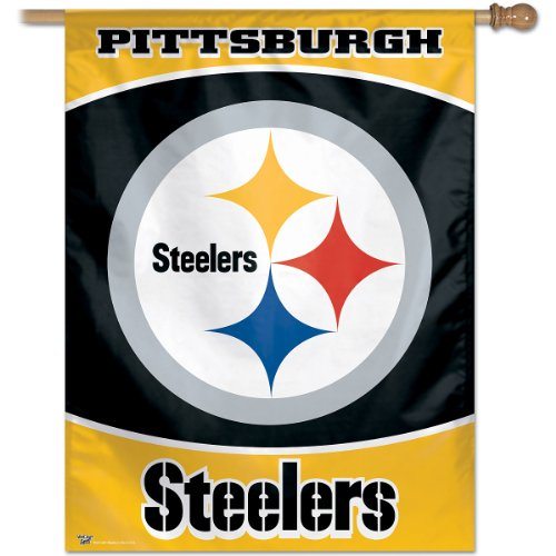 NFL Pittsburgh Steelers 27-by-37-Inch Vertical Flag
