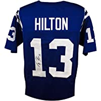 $119 » T.Y. Hilton Autographed Indianapolis Colts Custom Blue Football Jersey - JSA COA (Black Ink)