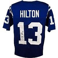 $119 » T.Y. Hilton Autographed Indianapolis Colts Custom Blue Football Jersey - JSA COA (Black Ink)