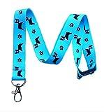 Boston Terrier Dog Breed Print Break Away Lanyard Key Chain Id Badge Holder