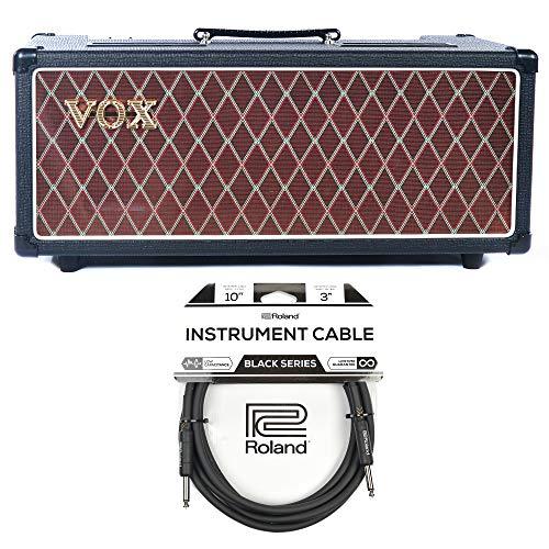Vox AC15CH 15W Head w/Attenuator Cable Bundle (Classic Series 1/4 Speakers)