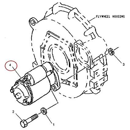 Amazon Com 2 0kw 9t 12v Starter Motor 163 3361 For Caterpillar Cat