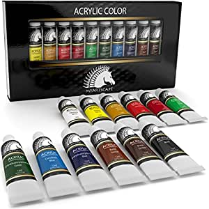 Acrylic paint set artist quality paints for for Acrylic mural paint supplies