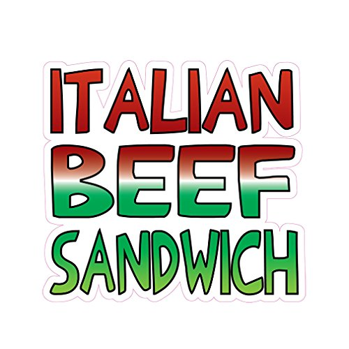 Italian Beef Sandwich Concession Restaurant Die-Cut Window Static Cling 48 inches Outside Glass