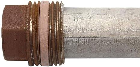 Anode 3//4 /Ø 22 mm L/änge 300 Magnesiumanode und Zubeh/ör