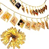 40 LED Photo Clip String Lights Battery Powered Fairy Twinkle Lights, Wedding Party Christmas Home Decor Lights for Hanging Photos, Cards and Artwork (16Ft,Warm White)