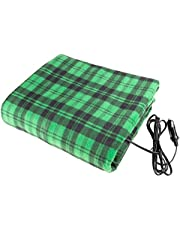 Stalwart - Electric Car Blanket- Heated 12 Volt Fleece Travel Throw for Car and RV-Great for Cold Weather