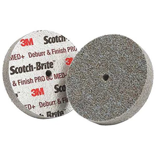 Scotch-Brite(TM) Deburr and Finish PRO Unitized Wheel, 3 in x 3/4 in x 1/4 in 6C MED+, 20 per case [You are purchasing the Min order quantity which is 20 WHLS] by 3M
